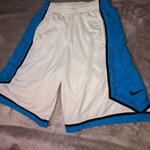 Blue and White Nike Athletic Shorts